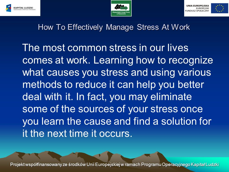 How To Effectively Manage Stress At Work