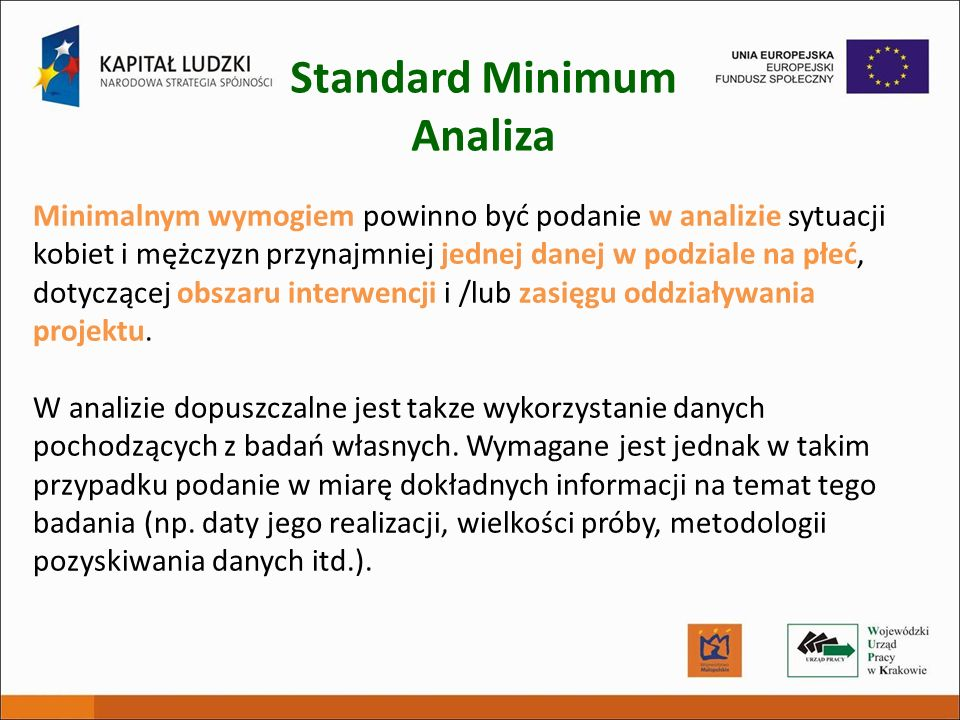 Standard Minimum Analiza