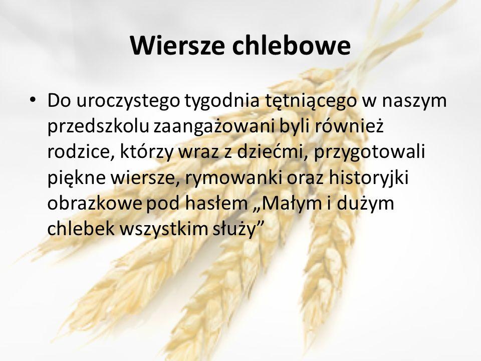 Tydzień Razowego Chleba W Przedszkolu Nr 2 W łapach Ppt