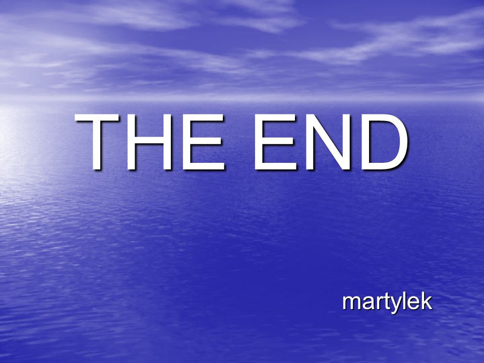 THE END martylek