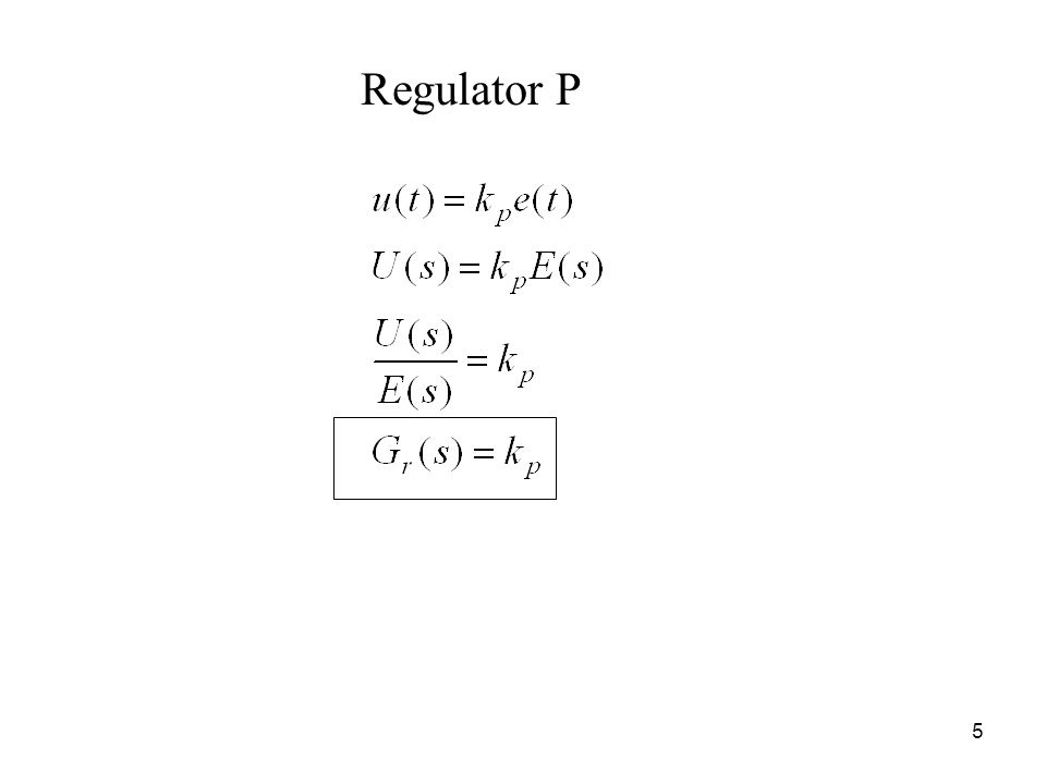 Regulator P