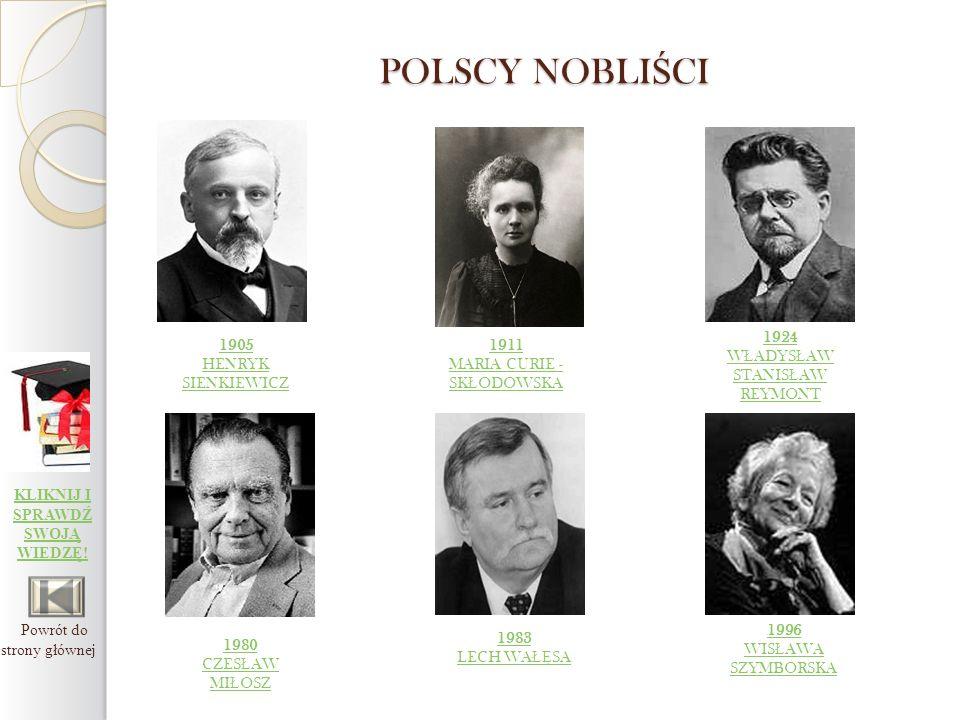 Polscy Laureaci Nagrody Nobla Ppt Pobierz