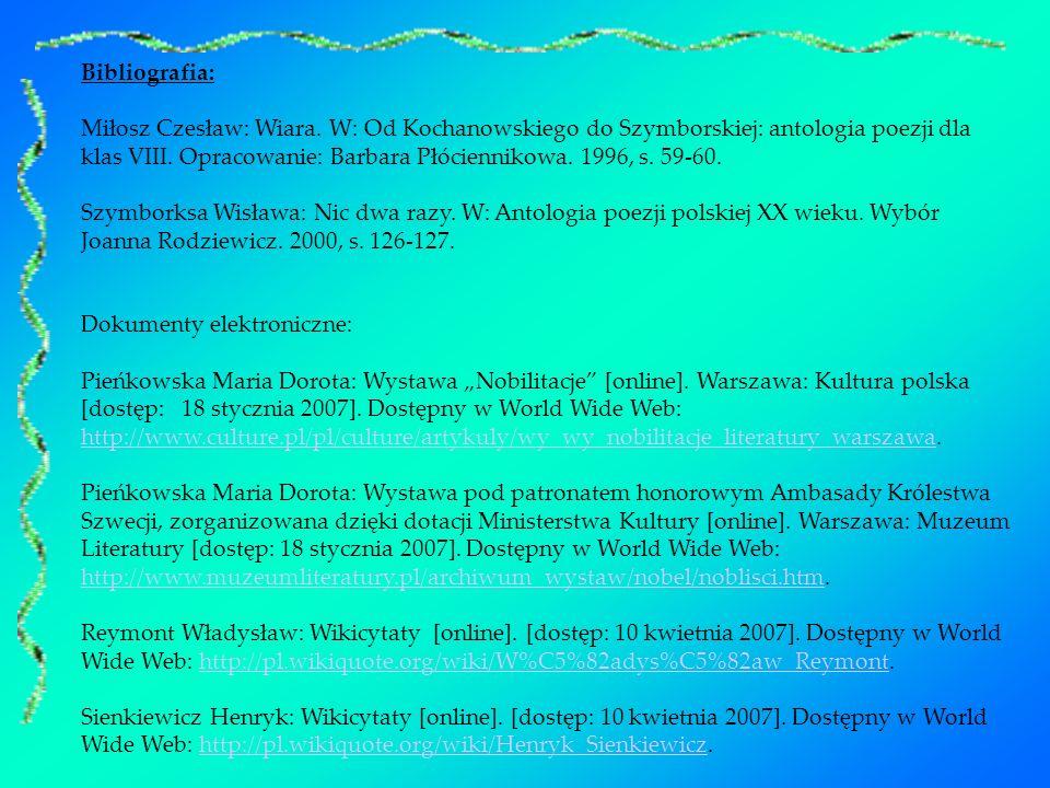 Polscy Laureaci Literackiej Nagrody Nobla Ppt Pobierz