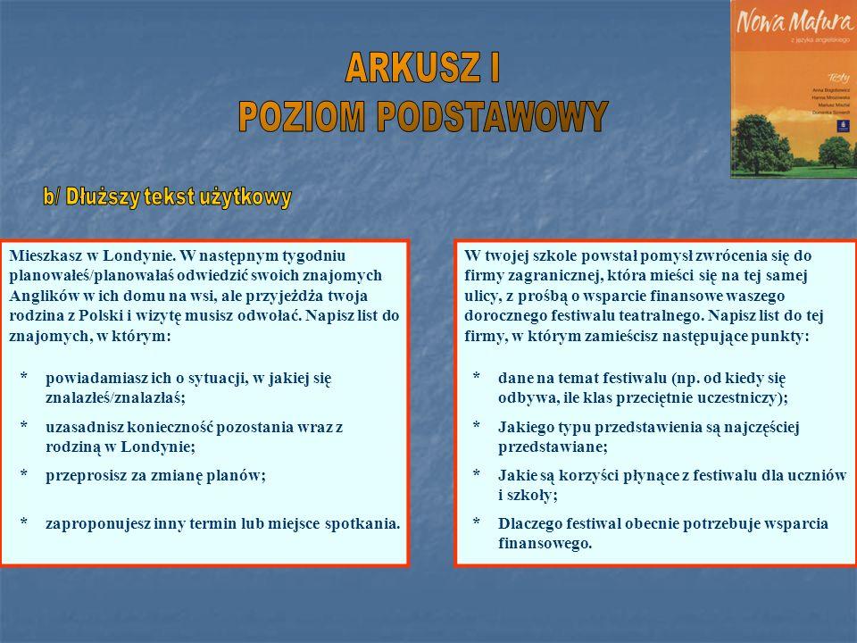 Warsztaty 1 Nowa Matura 2005 Język Angielski Ppt Pobierz