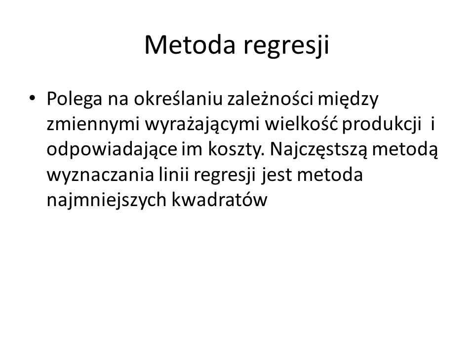 Metoda regresji
