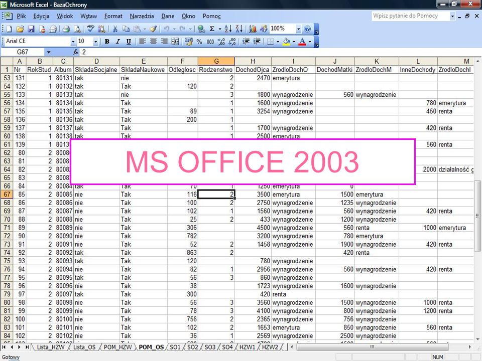 MS OFFICE 2003