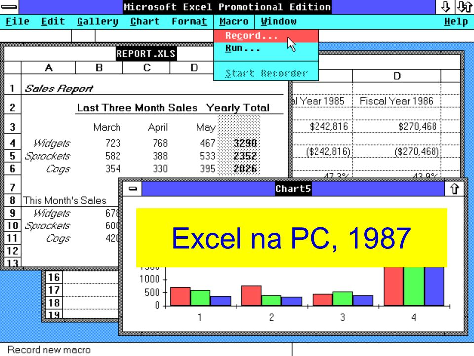 Excel na PC, 1987