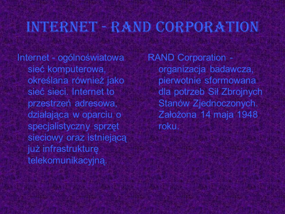 Internet - RAND Corporation