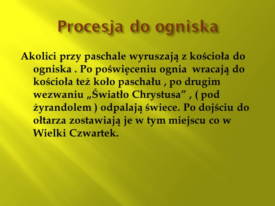 Procesja do ogniska
