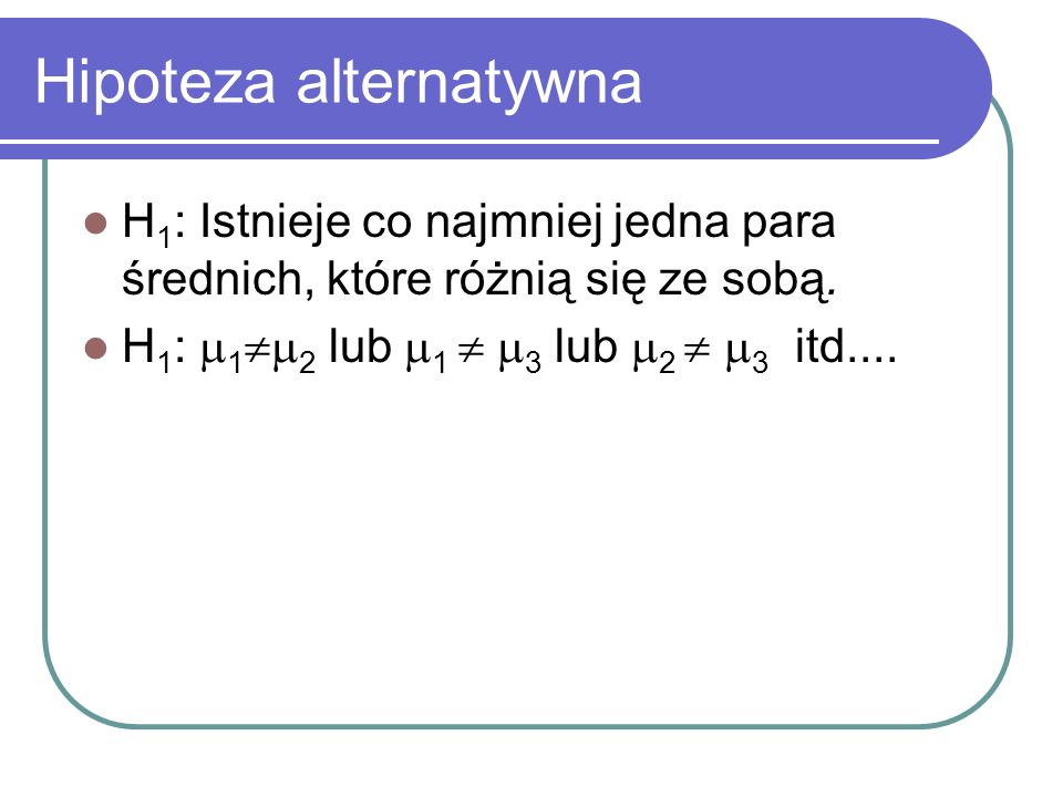 Hipoteza alternatywna