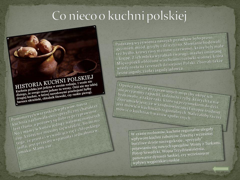 Plusy I Minusy Polskiej Kuchni Ppt Pobierz