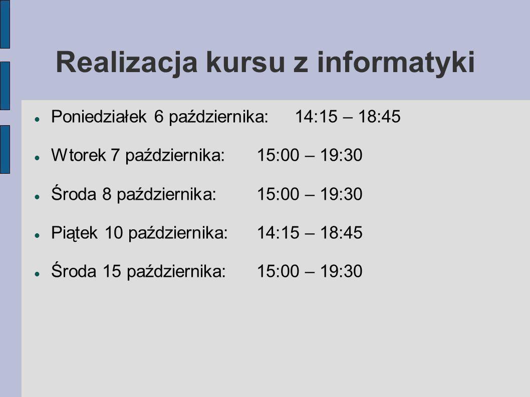 3d4623c17105 KURS Z INFORMATYKI prowadzący  mgr Przemysław Głowacki. - ppt pobierz