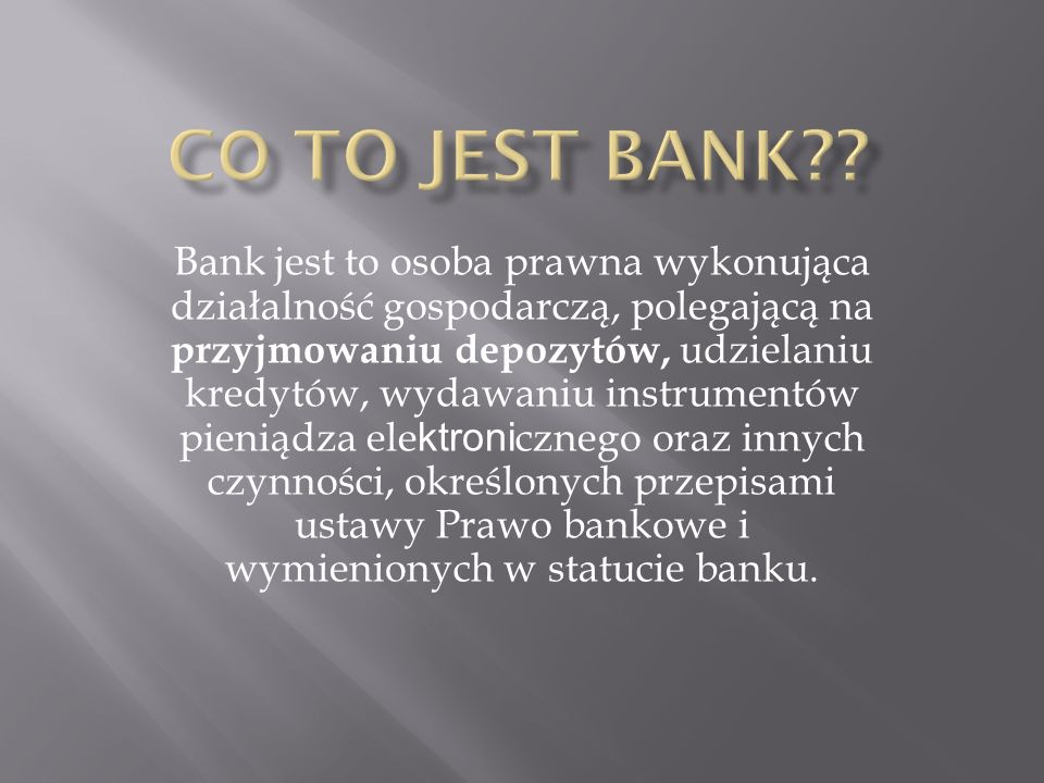 Co to jest bank