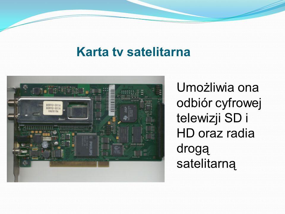 Karta Sieciowa Dzwiekowa Graficzna I Telewizyjna Budowa I