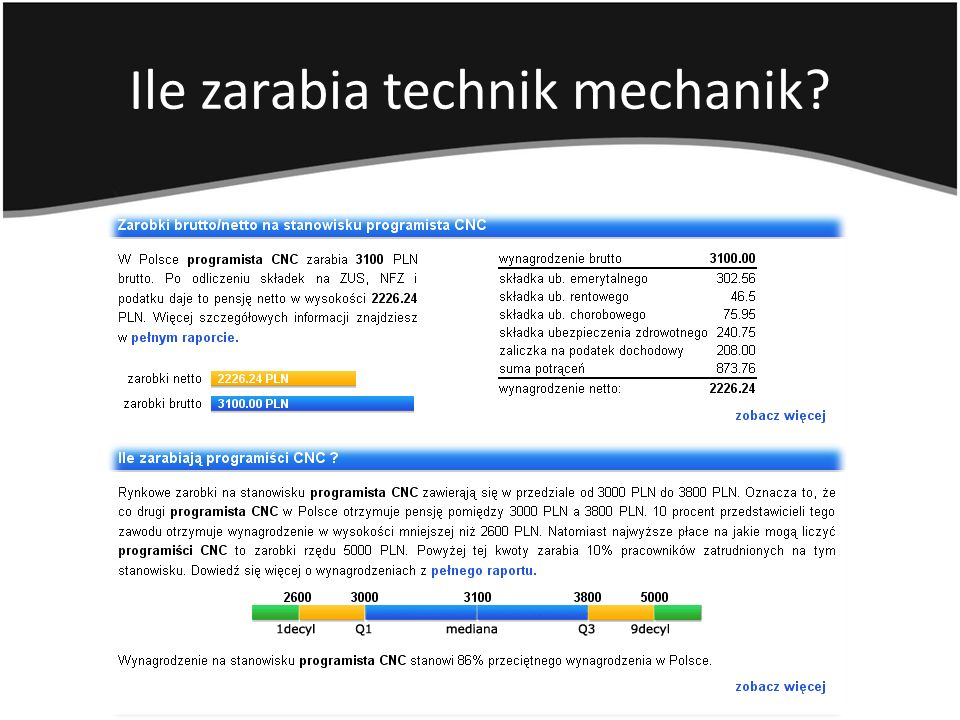 Ile zarabia technik mechanik