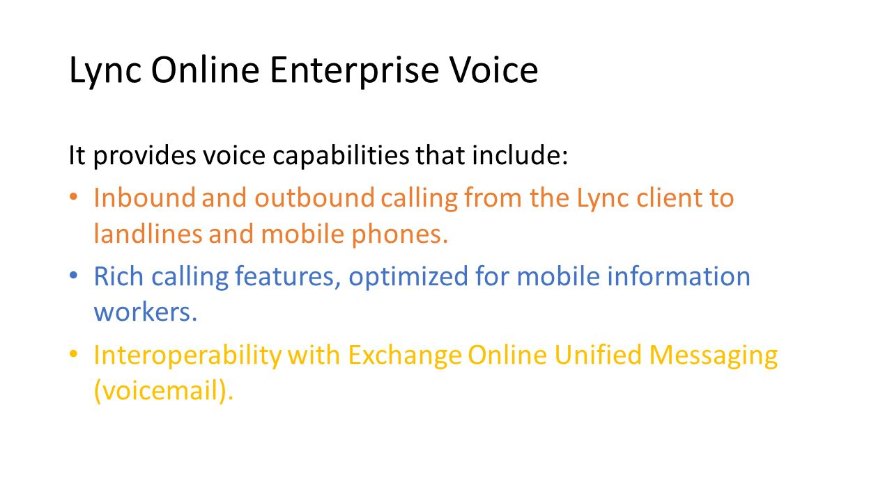 Lync Online Enterprise Voice