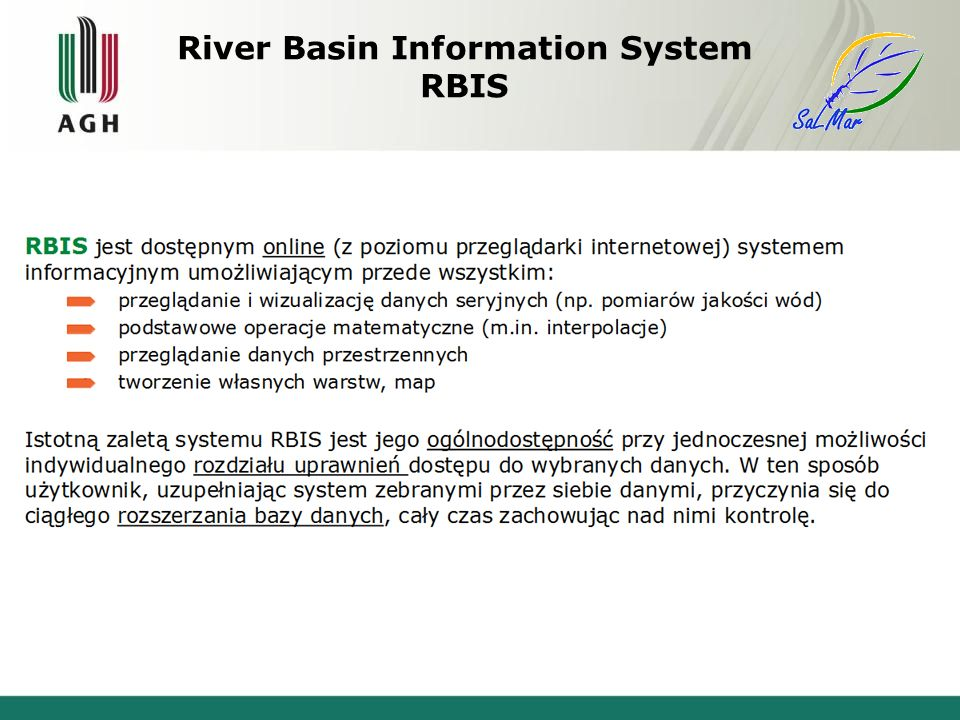 River Basin Information System RBIS
