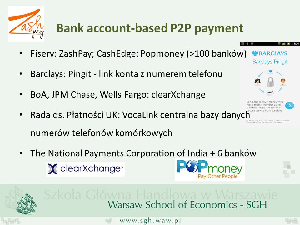 Bank account-based P2P payment