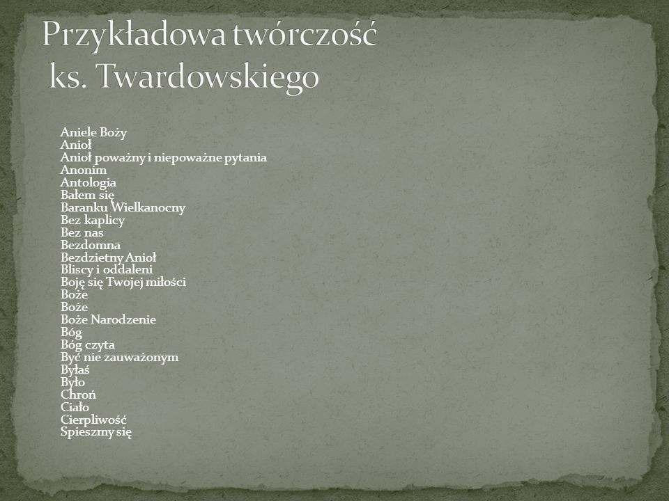 Ks Jan Twardowski Nasz Patron Ppt Video Online Pobierz