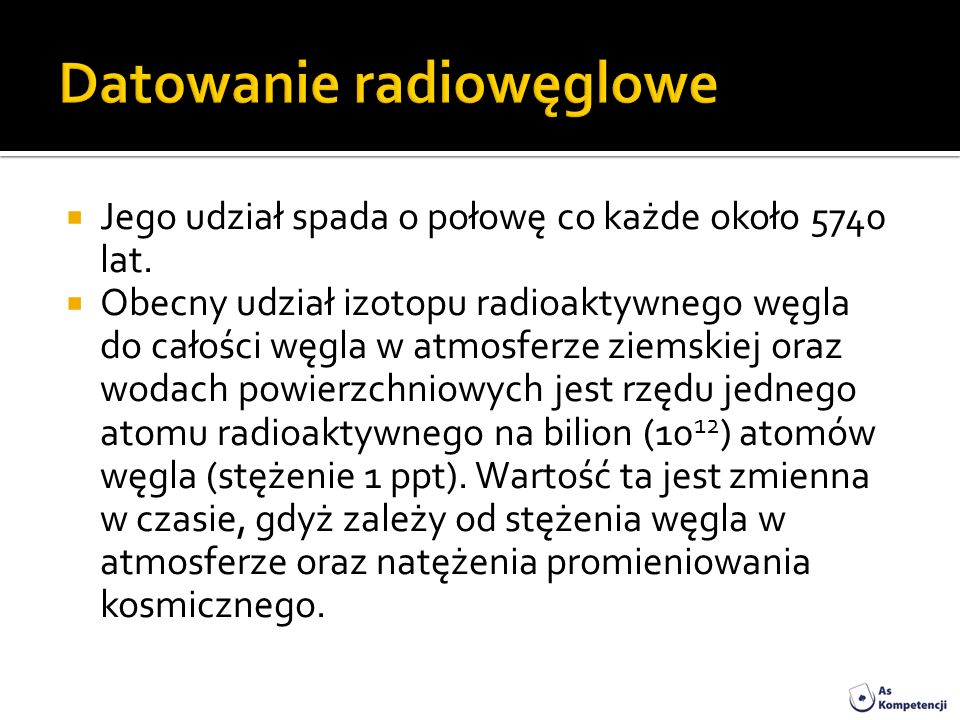 Izotopy radioaktywne datowane na skały
