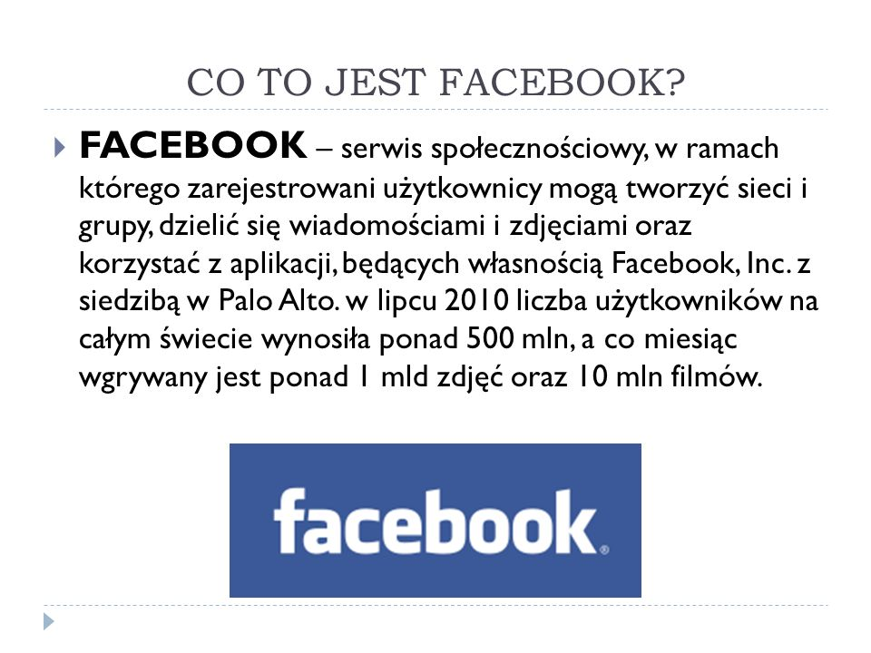 CO TO JEST FACEBOOK