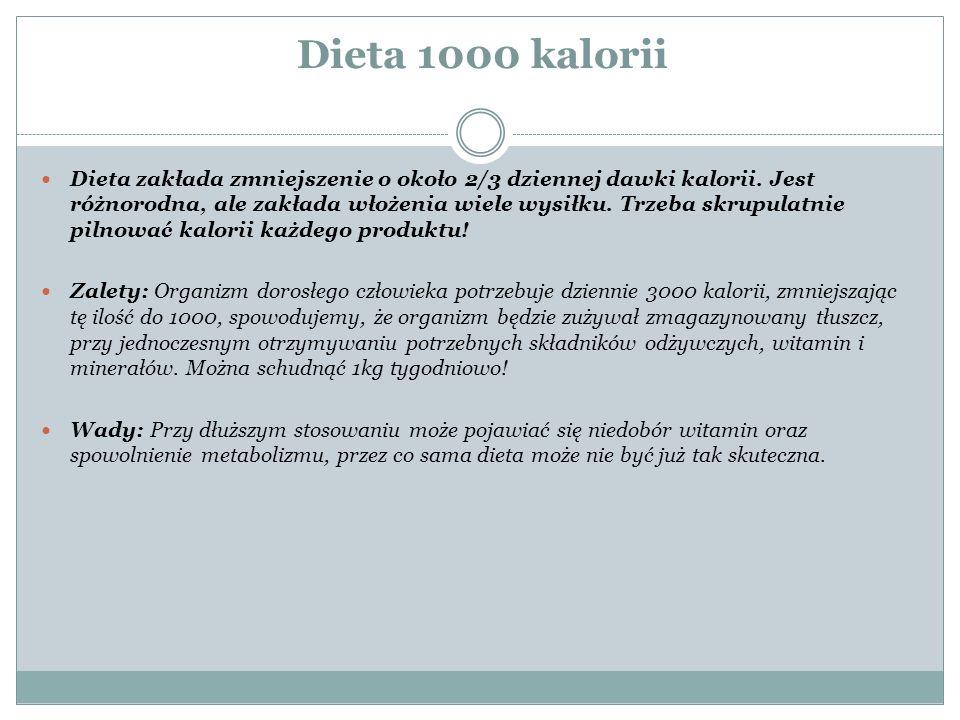 dieta 1000 kcal zasady