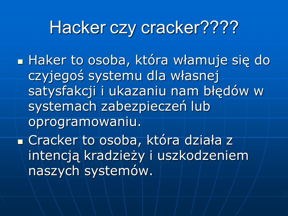 Hacker czy cracker