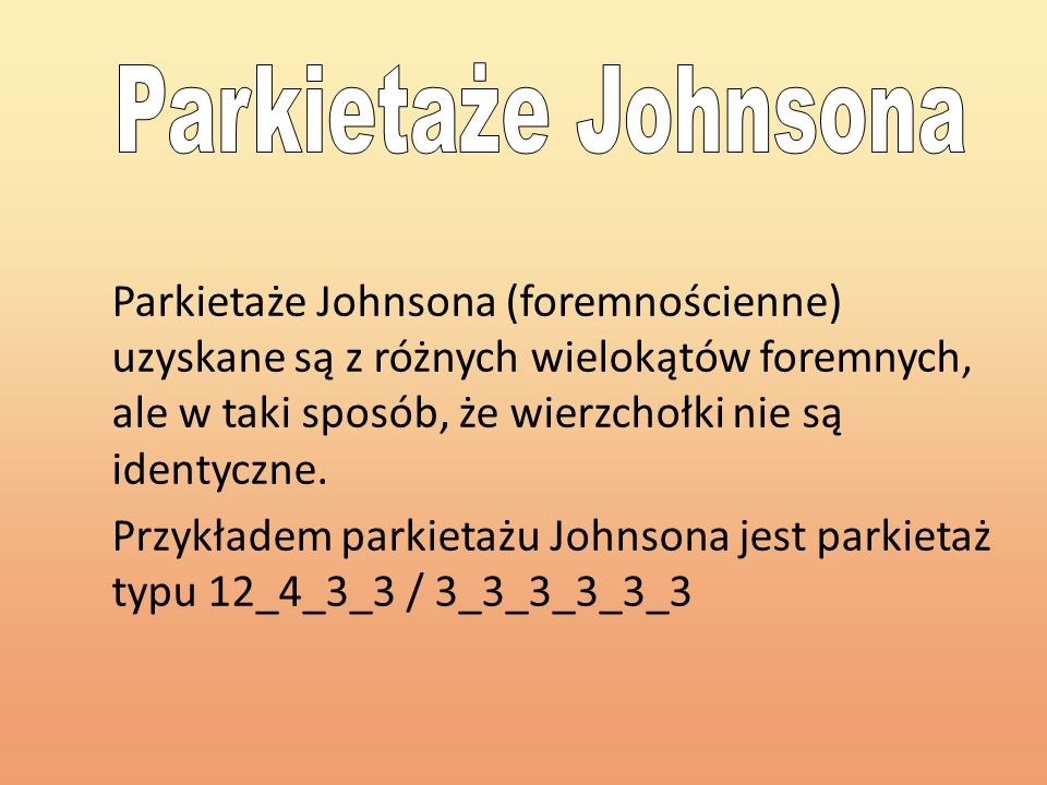 Parkietaże Johnsona