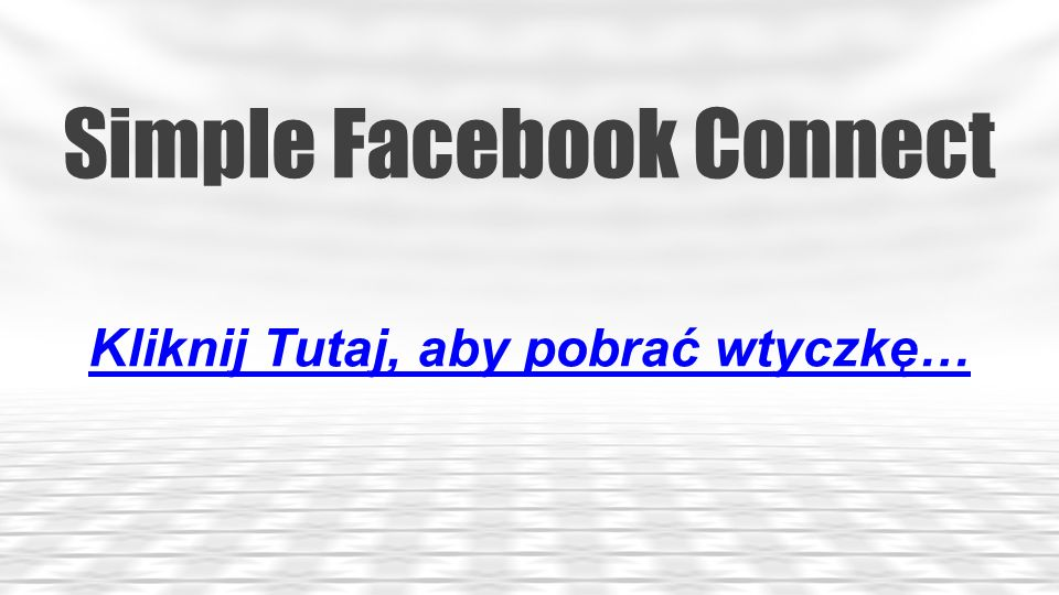 Simple Facebook Connect