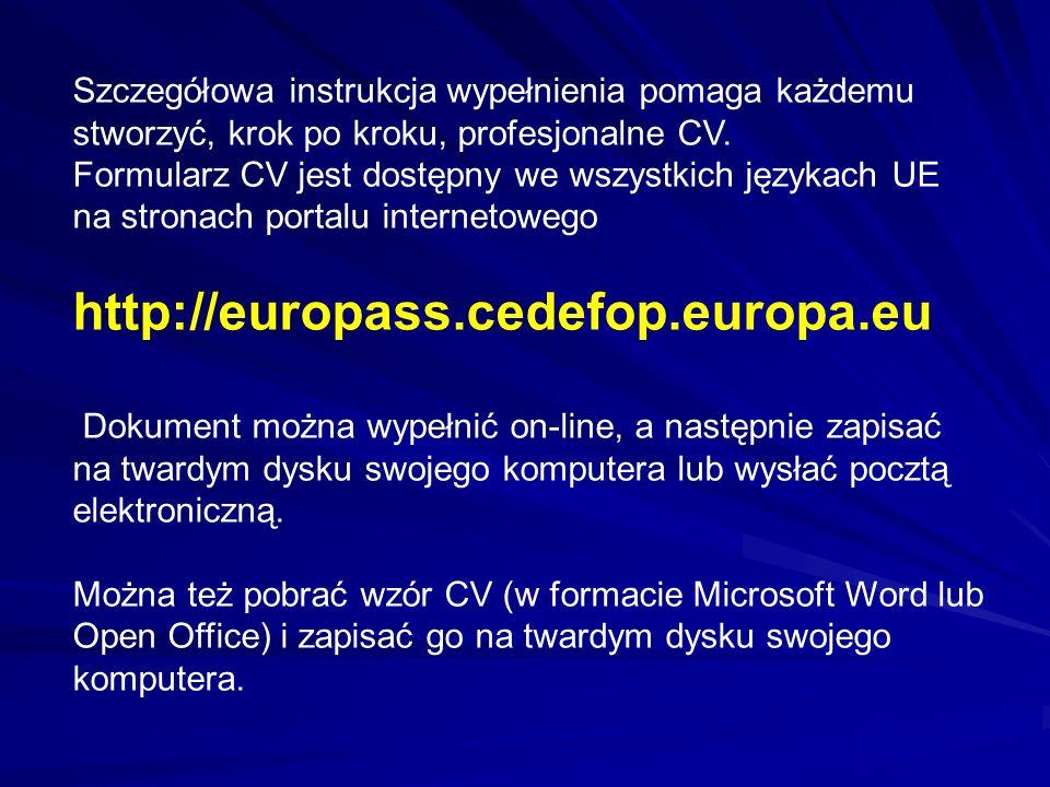 europass stwarza mo u017cliwo u015bci nauki i pracy w europie