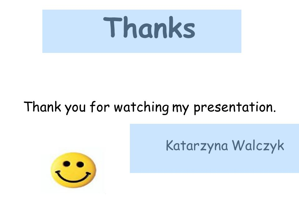 Thank you for watching my presentation.