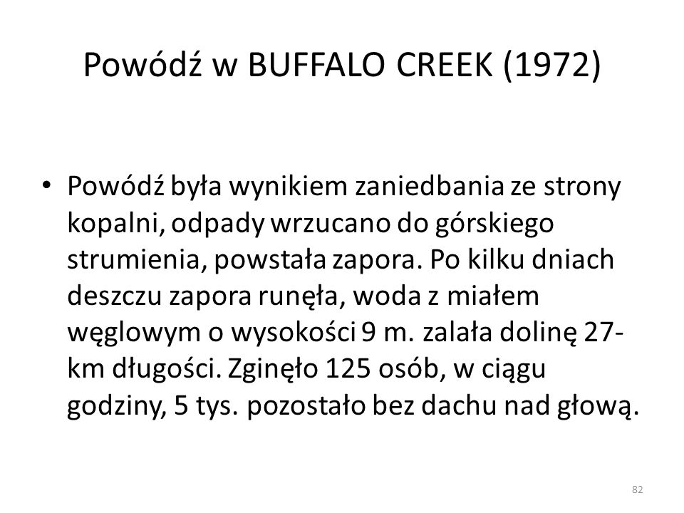 Powódź w BUFFALO CREEK (1972)