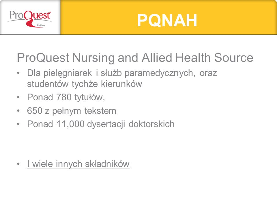 PQNAH ProQuest Nursing and Allied Health Source