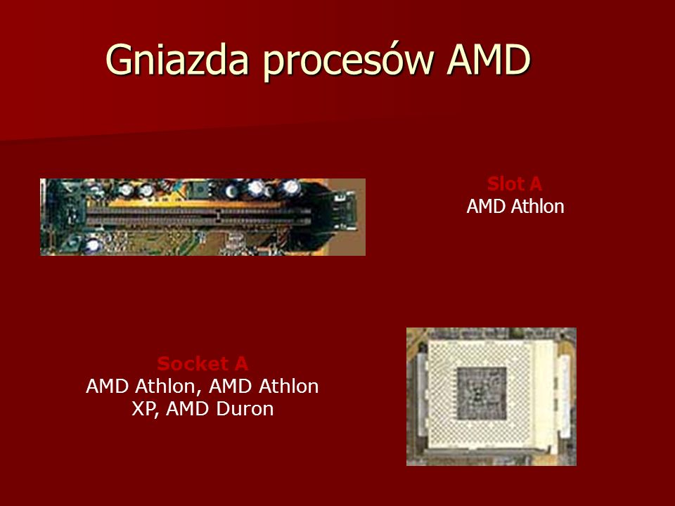 Socket A AMD Athlon, AMD Athlon XP, AMD Duron