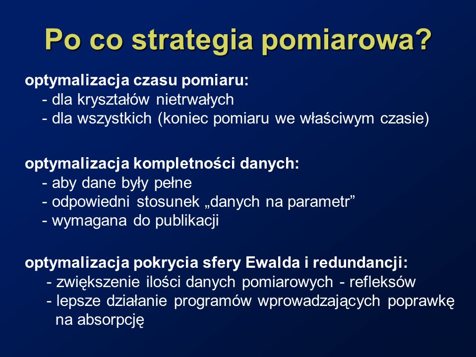 Po co strategia pomiarowa