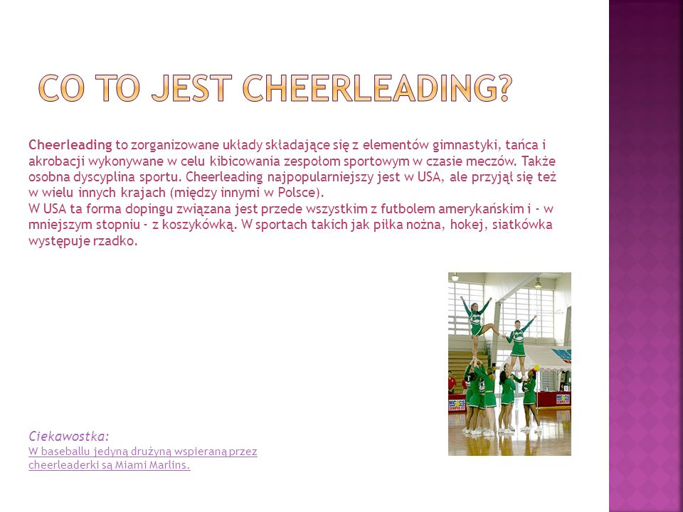 Co to jest cheerleading