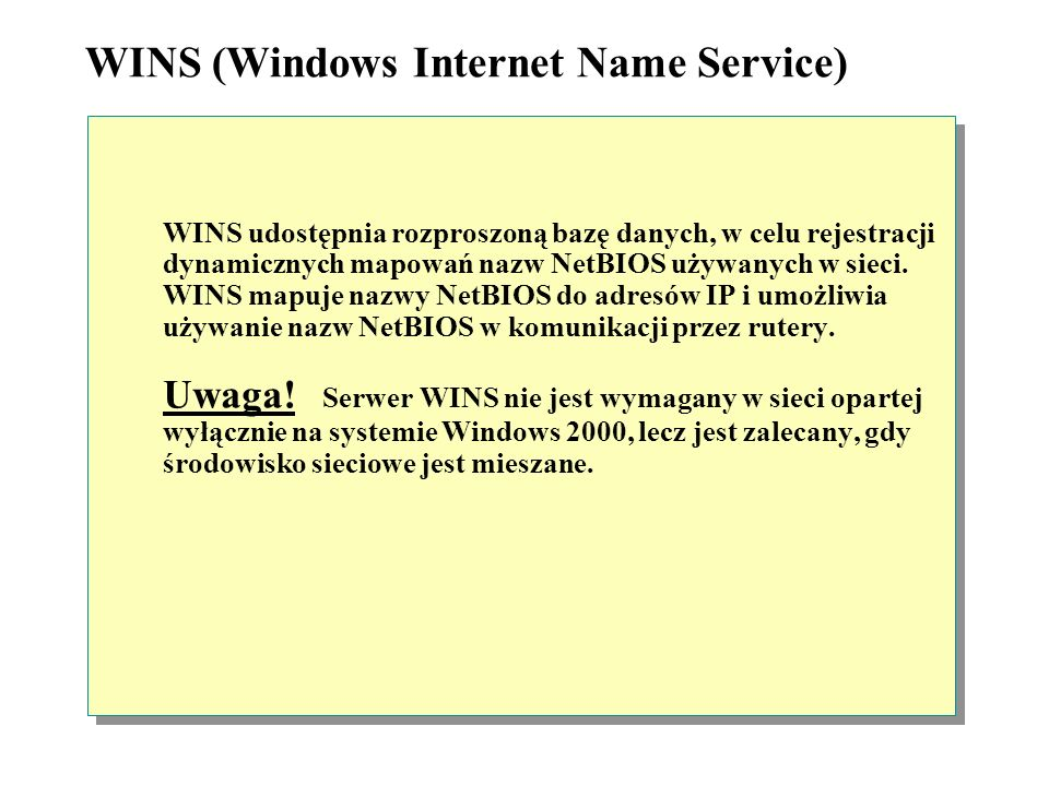 WINS (Windows Internet Name Service)