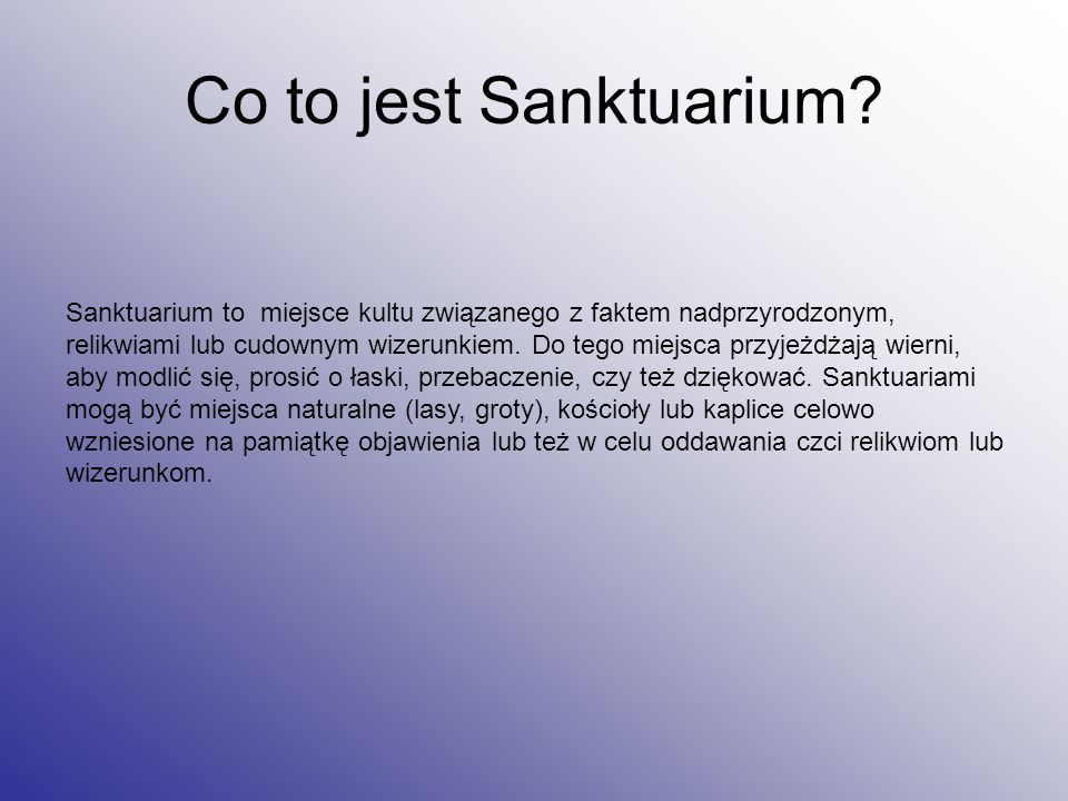 Co to jest Sanktuarium