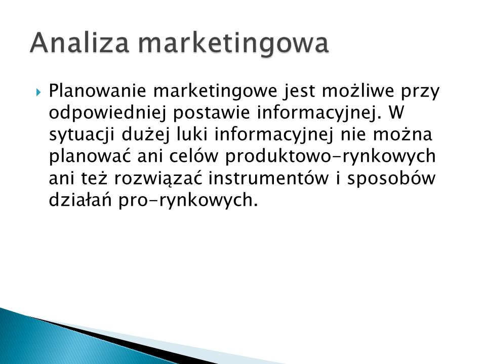 Analiza marketingowa