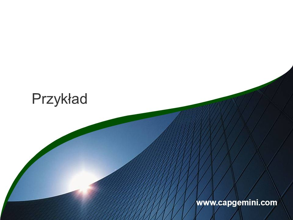 Section Break Przykład www.capgemini.com