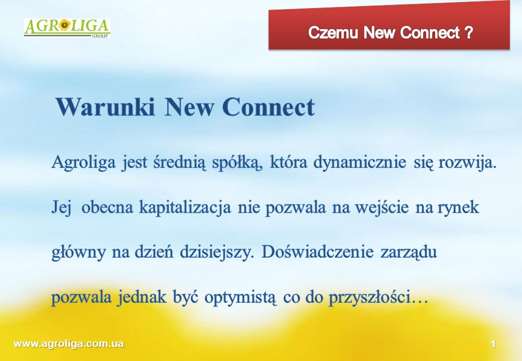 Czemu New Connect Warunki New Connect.