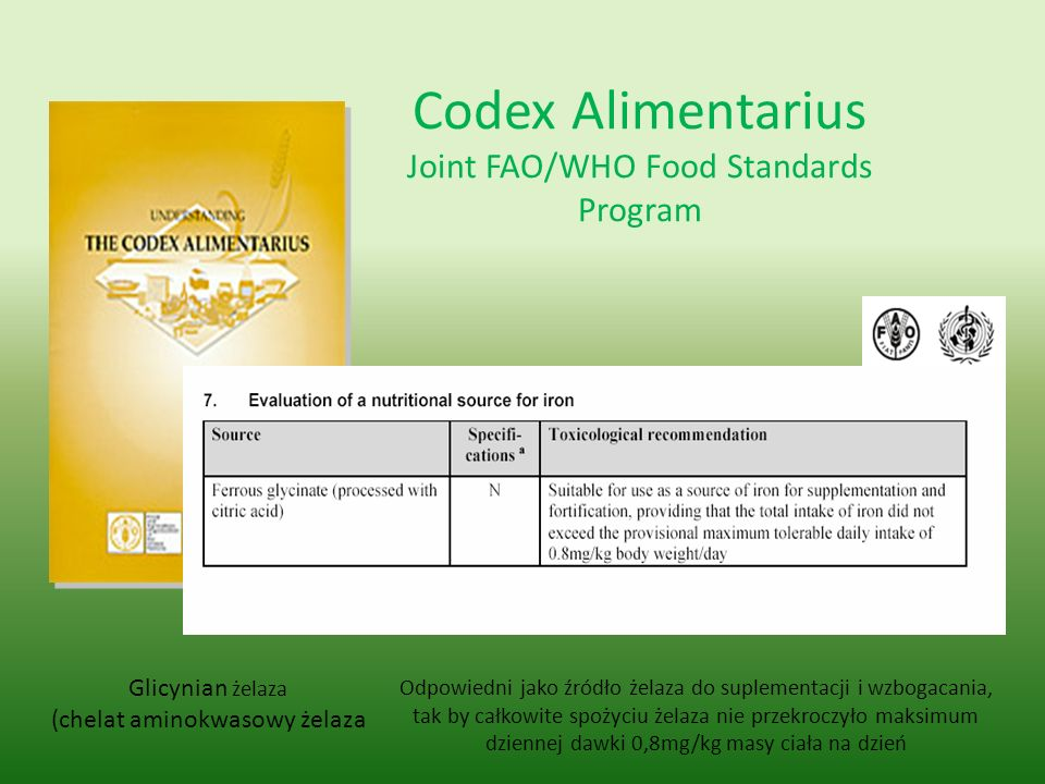 Codex Alimentarius Joint FAO/WHO Food Standards Program
