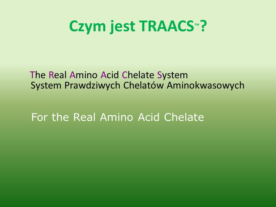 For the Real Amino Acid Chelate