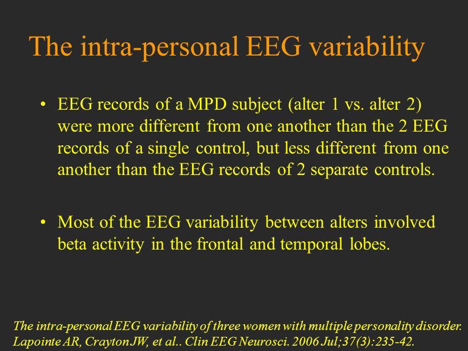 The intra-personal EEG variability