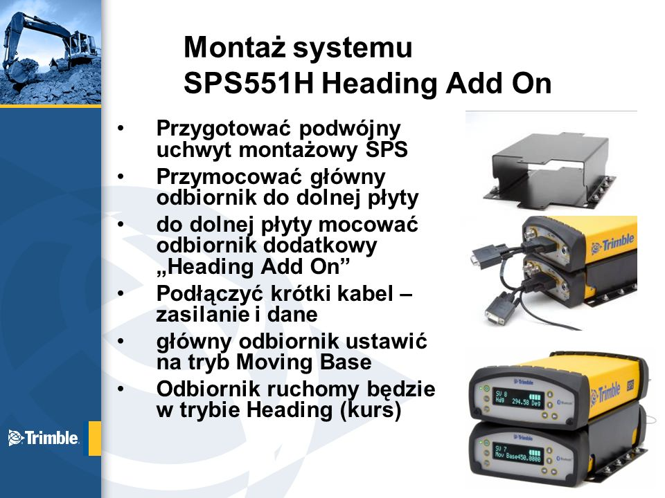 Montaż systemu SPS551H Heading Add On