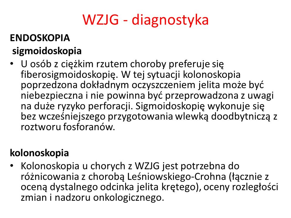 WZJG - diagnostyka ENDOSKOPIA sigmoidoskopia