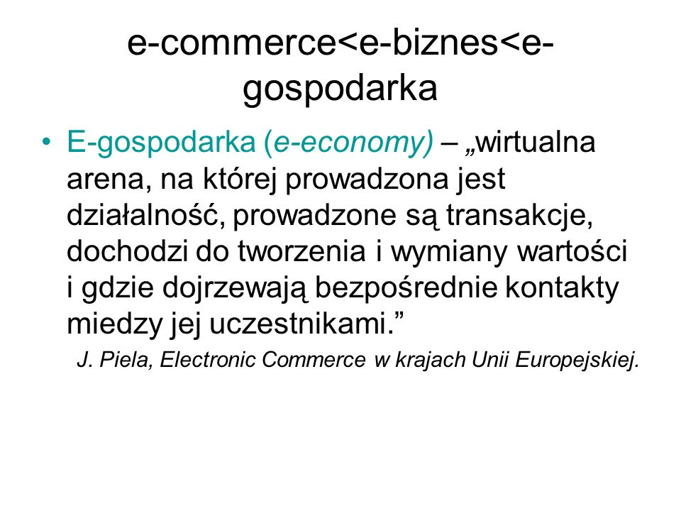 e-commerce<e-biznes<e-gospodarka