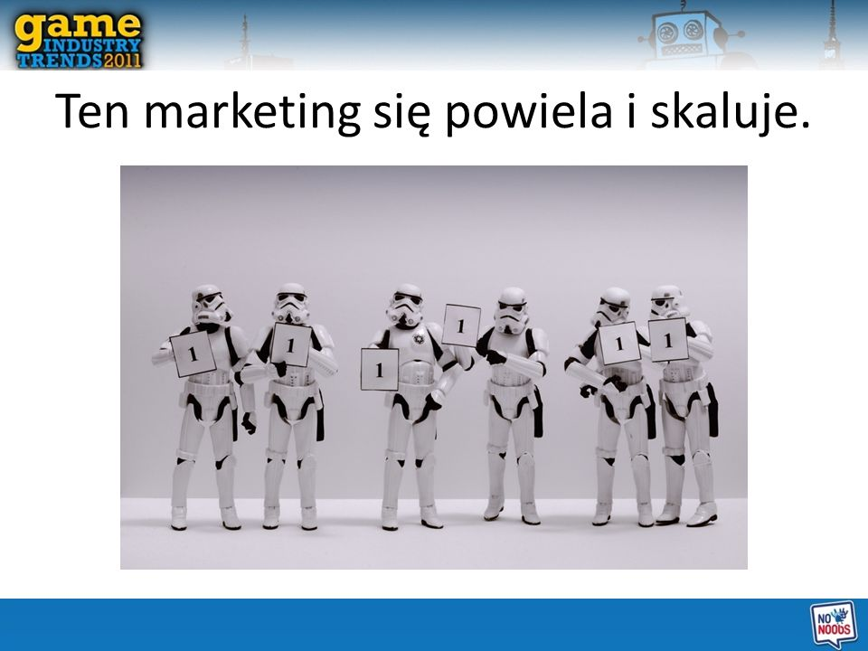 Ten marketing się powiela i skaluje.