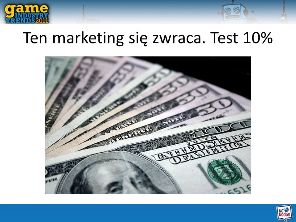 Ten marketing się zwraca. Test 10%