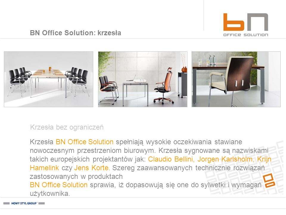 BN Office Solution: krzesła